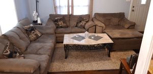 Couch, loveseat and lounge chair with ottoman for Sale in Dallas, TX