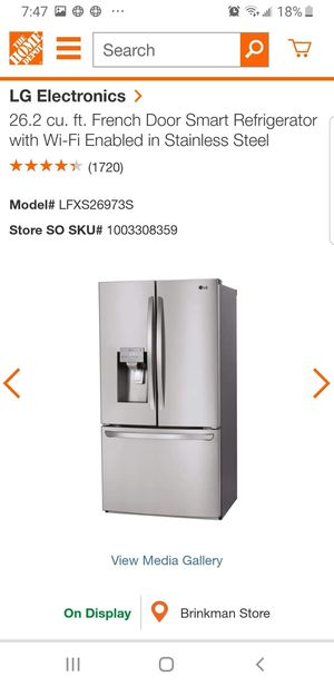 Refrigerator Lg stainless stell for Sale in Houston, TX