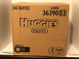 Huggies 246ct size 2 for Sale in Red Hill, PA