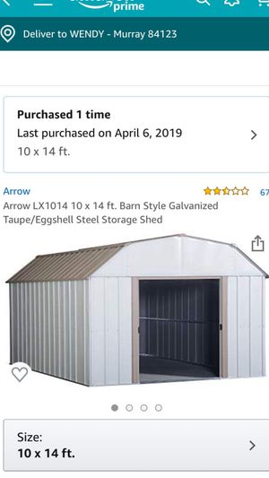 Arrow, steel storage shed for Sale in West Valley City, UT