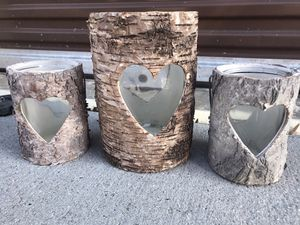 New decorative tree bark candle holders for Sale in Virginia Beach, VA