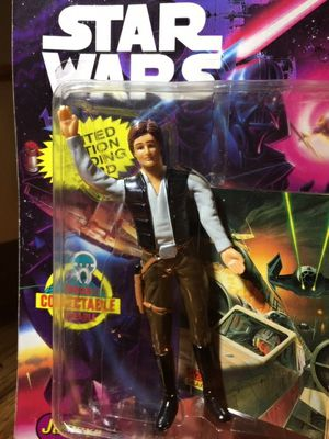 Star WarsBend-EmsHan SoloAction Figure With Trading Card From Just Toys 1994 for Sale in Leander, TX