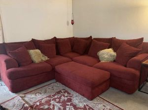 Goose down sofa and ottoman in excellent condition. 9 feet by 9 feet for Sale in Fresno, CA