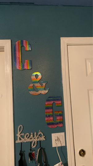 Rainbow letters or blinged our keys size for Sale in La Mirada, CA