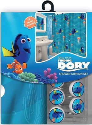 Disney Finding Nemo Dory Shower Curtain and Hooks Set for Sale in Compton, CA