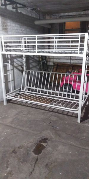 Simoneau Metal Twin over Full Futon Bunk Bed for Sale in Chicago, IL