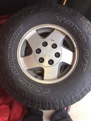 Stock Chevy Silverado 6lugs set & extra tire for Sale in Sunnyside, WA