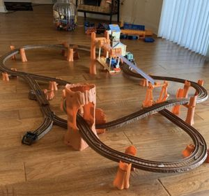 """The Fisher-Price Thomas the Train Track Set- """"Zip, Zoom and Logging Adventure"""" -Age Group 3 & up for Sale in Cape Coral, FL"""