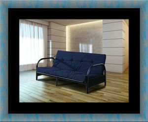 Black futon frame with mattress for Sale in North Potomac, MD