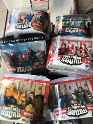 Marvel Superhero Squad Figures - 12 Sets for Sale in Carrollton, TX