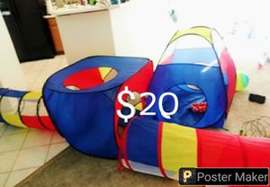 kids play 2 tunnels and 2 tents for Sale in North Las Vegas, NV