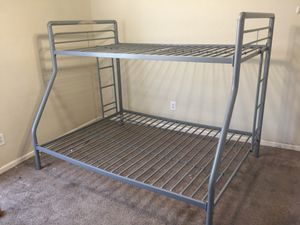 2 twin on top and full on bottom bunk bed frames for 100.00 a piece for Sale in Gibsonton, FL