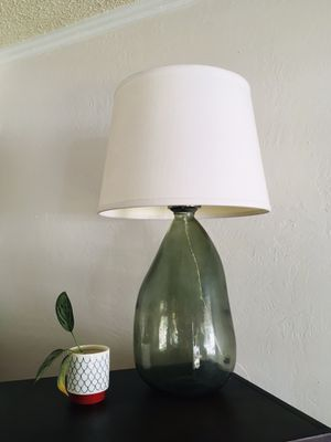 Large green glass lamp for Sale in Denver, CO