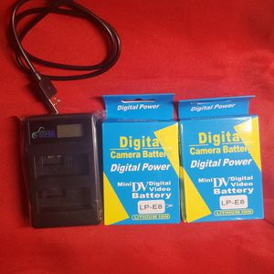 NO DELIVERY Digital Camera Battery 2 Pack & USB Charger for Sale in Lynwood, CA