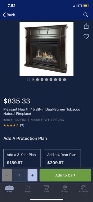 Pleasant hearth fireplace for Sale in Smyrna, TN