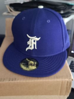 Fear Of God Essentials New Era Hat Royal Blue 7 1/4 for Sale in Los Angeles,  CA