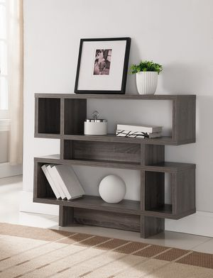 2 Tier Display Cabinet , Distressed Grey for Sale in Downey, CA