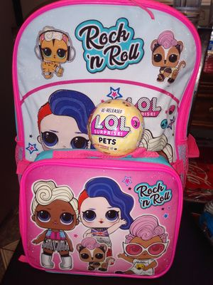 💕💕 LOL SURPRISE CUTE BACKPACK WITH LUNCH BAG BUNDLE!!!💕💕 for Sale in Riverside, CA