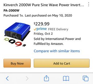2000w inverter for Sale in Bellingham, WA
