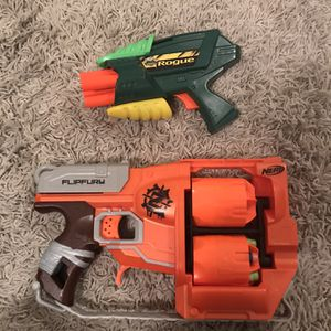 2 Nerf Guns Needs The Nerf's $5.00 For Both!! for Sale in Hollywood, FL