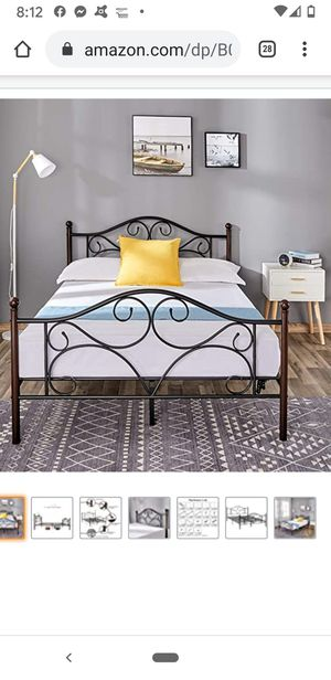 Full metal bed frame for Sale in Elgin, IL