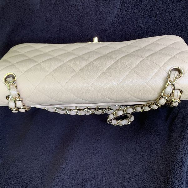 Chanel Classic Jumbo Double Flap Beige