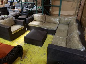 New 7pc outdoor patio furniture set tax included delivery available for Sale in Hayward, CA