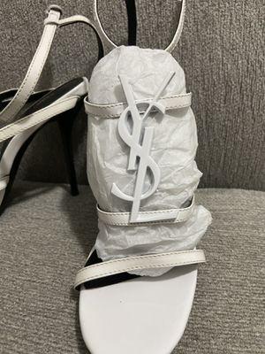 YSL white sandal heels for Sale in Miami, FL