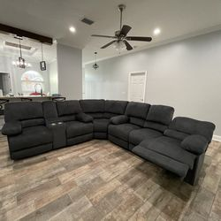 New Sectional 3 Piece Massage 4 Recliner FREE DELIVERY SET UP for Sale in Tampa,  FL