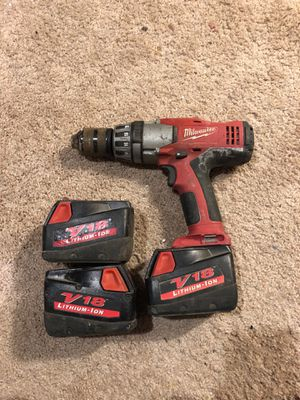 Milwaukee hammer drill V18 for Sale in Walkersville, MD