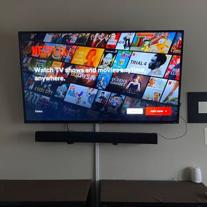 "4k Tcl 55"" Roku Tv..........vizio Sound Bar An Sub Included for Sale in Arlington, TX"
