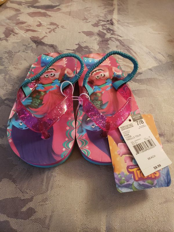 Toddler Girls Troll Sandals sz 7/8- Brand New