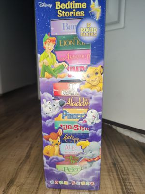 Disney Bedtime Stories 12 Board Book Block Tower Childrens Books New Sealed for Sale in Cornelius, OR