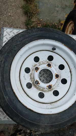 Trailer tire with rim for Sale in Bethel Park, PA