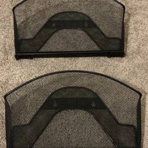Set of 2 Black Wire Mesh Wall Hanging Mount Storage Organizer Document Mail Letters File Holder Home Office Accent for Sale in Chapel Hill, NC