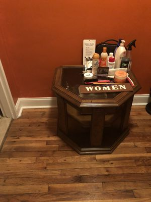 Antique table/storage for Sale in Brooklyn, NY