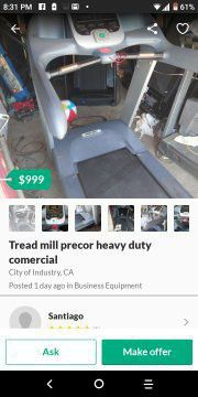 Treadmill precor everything works great for Sale in City of Industry, CA