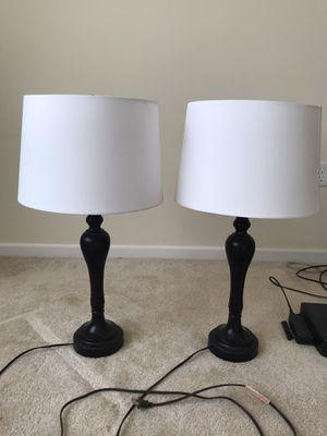Two espresso table lamps for Sale in Hamilton Township, NJ