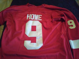 New gordie howe jersey all numbers and letters stitched excellent condition size 48 for Sale in Cleveland, OH
