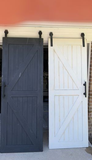 Barn doors and hardware (2) for Sale in Houston, TX