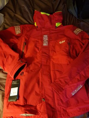 I have 2 brand new size large and size XL men's GILL os2 offshore jackets both are red in color for Sale in Tacoma, WA