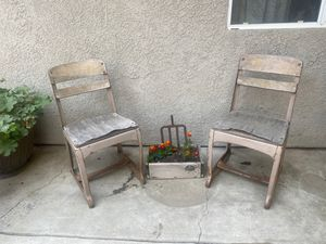 Vintage school chairs for Sale in Dinuba, CA