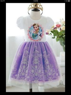NEW Frozen Elsa Dress Sz 6 for Sale in Davenport, FL