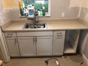 Kitchen Countertop Upper and Lower Cabinets and Sink for Sale in Hillsboro Beach, FL
