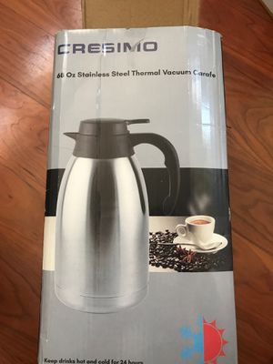 Cresimo- 68 OZ Stainless Thermal Vacuum Carafe for Sale in Lancaster, CA