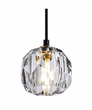 Modern Crystal Island Pendant Lighting Mini Vintage Glass Foyer Chandelier Contemporary 1-Light Soccer Ball Shape Ceiling Hanging Lights Fixture for for Sale in Springfield, VA
