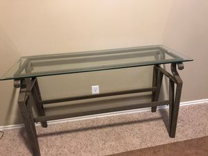 Glass Console table, end table for Sale in Salt Lake City, UT