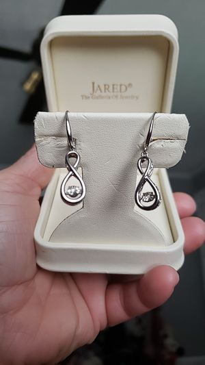 Sterling silver diamond earrings. for Sale in Henderson, KY