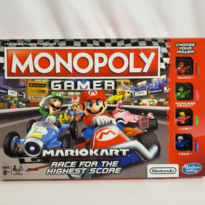 Monopoly Gamer Nintendo Characters Super Mario Princess Peach Yoshi Board Game for Sale in Brookfield, IL