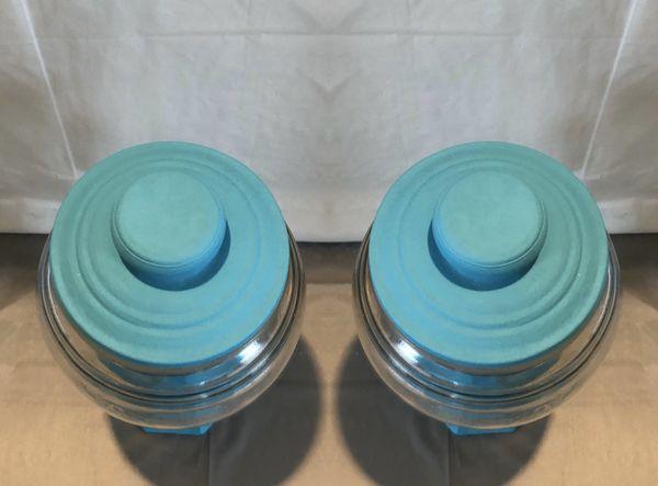 Teal Chalk Paint Jars